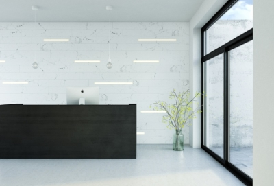 Image of integrated lighting into wall panels (concrete look and feel)