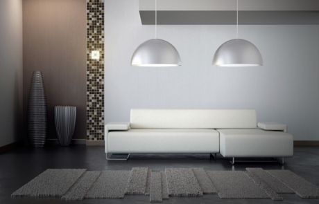 Image by Luminous Concepts showing installation of Lighting Wall paper in architectural design room