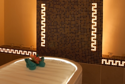 IImage by Luminous Concepts showing installation of Luminous Tiles in spa
