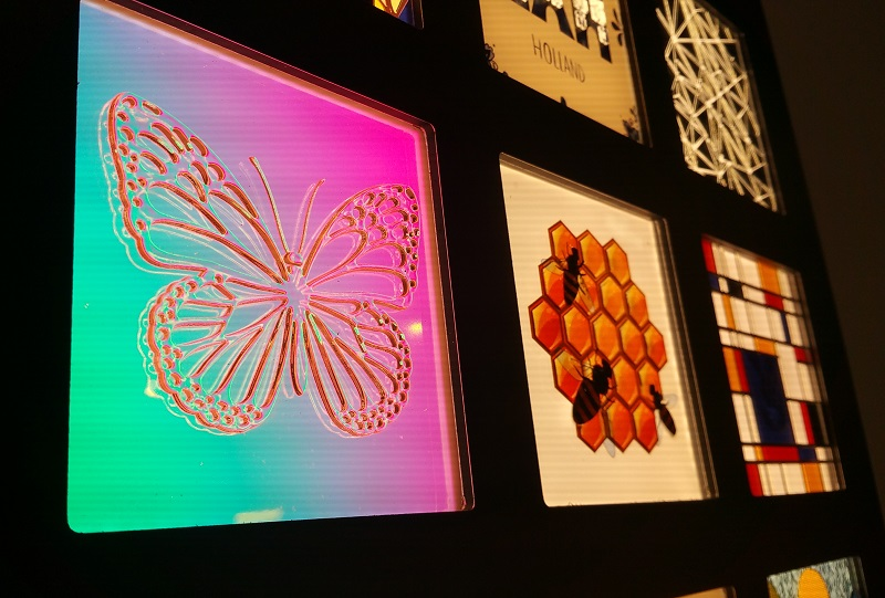 Image of Lightly Technologies display with dichroic and optical effects