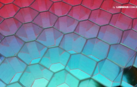 Image of Hexagonal Cavity pattern illuminated by Luminous Concepts