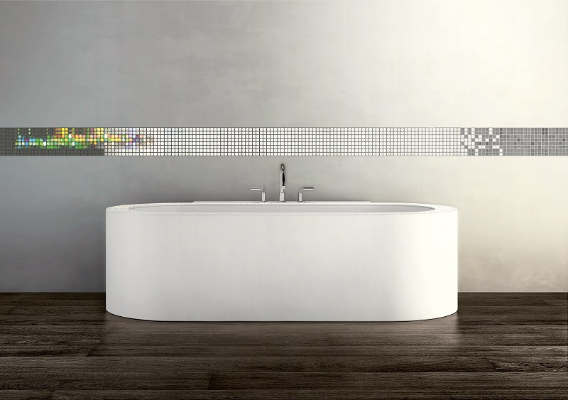 Image of volatiles pattern installed above a bath tub