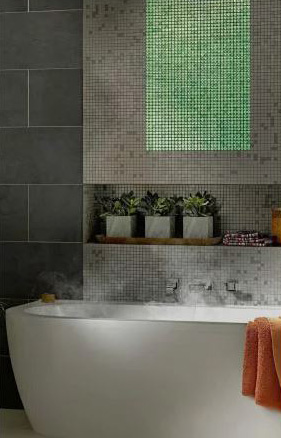 Image of volatiles installed in a bathroom setting