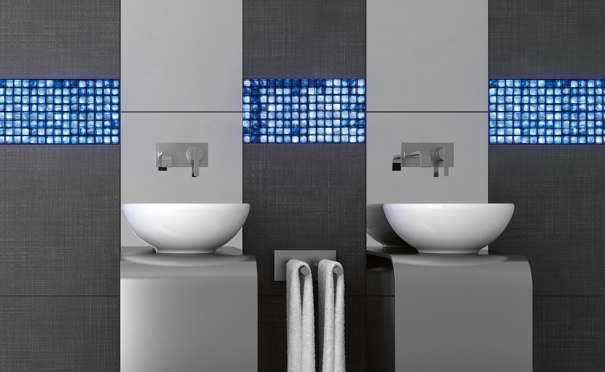 Image of volatiles installed in a bathroom installation for inspirational purposes