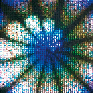 Image showing volatiles mosaic tiles with a vibrant colors